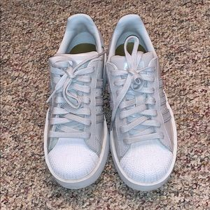 Adidas grey platform sneakers size 5.5